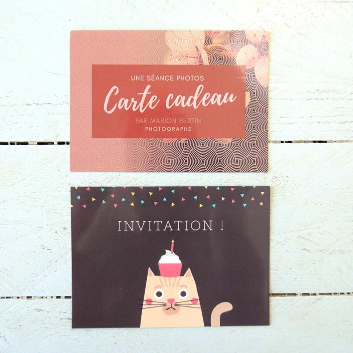 Carte cadeau et invitation